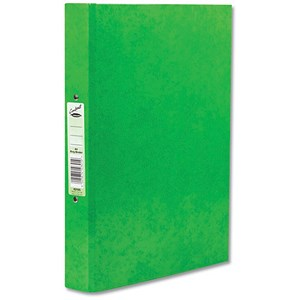 Image of Concord Contrast Ring Binder / 2 O-Ring / 40mm Spine / 25mm Capacity / A4 / Lime / Pack of 10