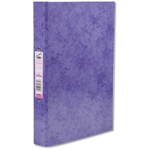 Image of Concord Contrast Ring Binder / 2 O-Ring / 40mm Spine / 25mm Capacity / A4 / Purple / Pack of 10