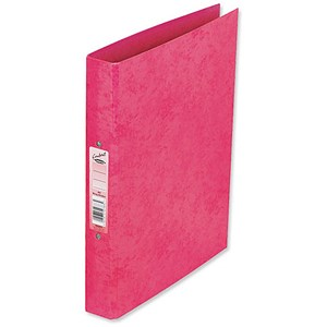Image of Concord Contrast Ring Binder / 2 O-Ring / 40mm Spine / 25mm Capacity / A4 / Raspberry / Pack of 10