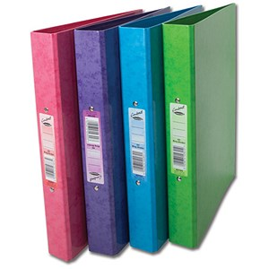 Image of Concord Contrast Ring Binder / 2 O-Ring / 40mm Spine / 25mm Capacity / A4 / Assorted / Pack of 10