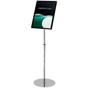 Image of Heavyweight Floor Standing Sign Holder / Bevel Magnetic Cover / A4