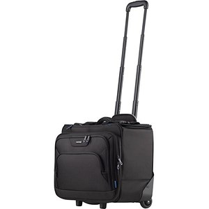 Image of Lightpak Pioneer Pilot and Business Case with Telescopic Handle Polyester Black Ref 46108