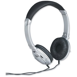 Image of Compucessory Headphones Chrome 120MW Cord 2.7m Ref CCS55232