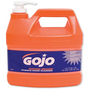 Image of Gojo Natural Orange Hand Cleaner / Pumice Particles and Aloe / 3.78 Litre