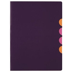 Image of Pagna Millenial Files / Set of 5 / A4 / Purple / Pack of 5