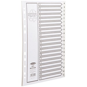 Image of Concord Recycled Dividers / Printed / A-Z / A4 / White