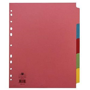 Image of Concord Subject Dividers / Extra Wide / 5-Part / A4 / Assorted