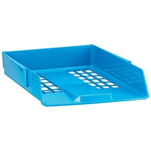 Image of Avery Basics Stackable Letter Tray / A4 & Foolscap / W278xD390xH70mm / Blue