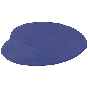 Image of Mouse Mat Ergonomic Non Slip with Gel Wrist Rest - Blue