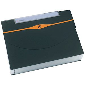 Image of Rexel Optima Expanding Organiser File / Polypropylene / 13-Part / Capacity: 500 Sheets / A4 / Black