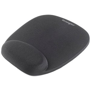 Image of Kensington Foam Mouse Pad and Wrist Wrest Non-slip Base Non-reflective Mousing Surface Black Ref 62384