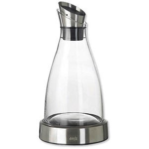 Image of Glass and Stainless Steel Cooling Carafe with Removable Cooling Disk - 1 Litre