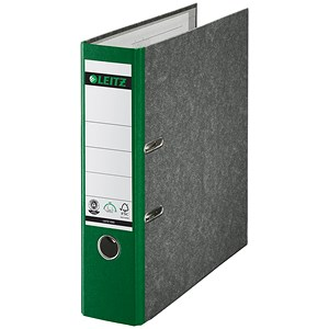 Image of Leitz A4 Lever Arch Files / 80mm Spine / Green / Pack of 10