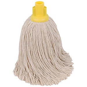 Image of Robert Scott & Sons Rough Surface Mop Head / Socket / PY Yarn / 16oz / Yellow / Pack of 10