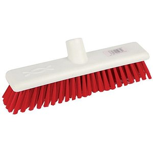 Image of Robert Scott & Sons Abbey Hygiene Broom Head Soft Washable 12in Red Ref WLMERE10L