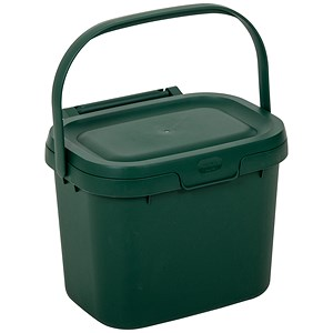 Image of Addis Kitchen Caddy / Locking Lid / 5 Litre / Green