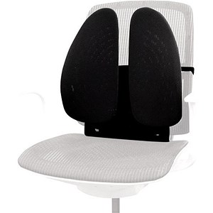 Image of Fellowes Back Angel Back Support 2-Independent Wings 7-height Settings Black Ref 8026401