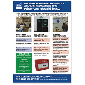 Image of Stewart Superior Workplace Welfare Laminated Guidance Poster W420xH595mm Ref HS103