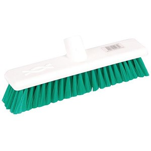 Image of Robert Scott & Sons Abbey Hygiene Broom Head Soft Washable 12in Green Ref WLMEGN10L