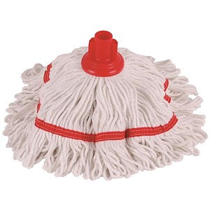 Image of Robert Scott & Sons Hygiemix T1 Socket Mop Cotton & Synthetic Yarn Colour-coded 250g Red Ref YLTR250