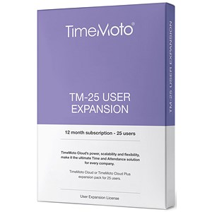 Image of Safescan TimeMoto TM Cloud User Expansion - 25 Users