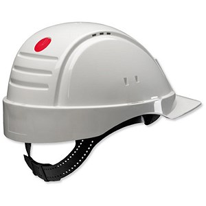 Image of 3M Solaris Ventilated Safety Helmet with Peltor Uvicator & Neck Protection - White