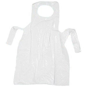 Image of Aprons On Roll Polythene 17 Micron 27x46in White [Roll of 200]