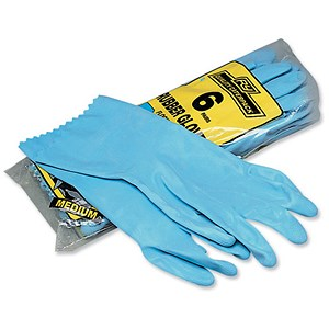 Image of Everyday Rubber Gloves / Medium / 6 Pairs