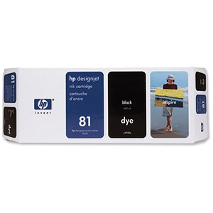 Image of HP 81 Black Ink Cartridge