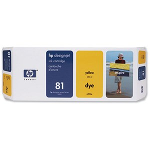Image of HP 81 Yellow Ink Cartridge