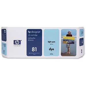 Image of HP 81 Light Cyan Ink Cartridge