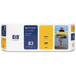 Image of HP 83 Yellow UV Ink Cartridge