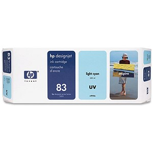 Image of HP 83 Light Cyan UV Ink Cartridge