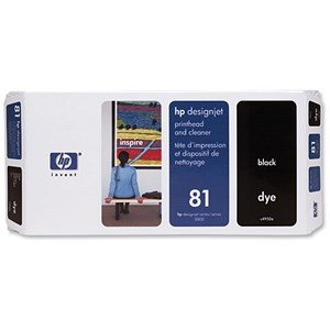 Image of HP 81 Black Dye Printhead and Printhead Cleaner