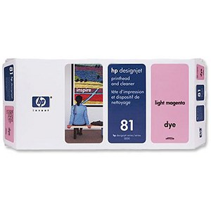 Image of HP 81 Light Magenta Dye Printhead and Printhead Cleaner