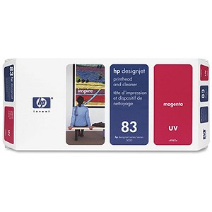 Image of HP 83 Magenta UV Printhead and Printhead Cleaner