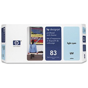 Image of HP 83 Light Cyan UV Printhead and Printhead Cleaner