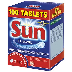 Image of Sun Dishwasher Tablets Professional - Box of 100