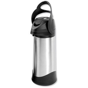Image of Pump Vacuum Jug / Stainless Steel / Dishwasher Safe / 3 Litre