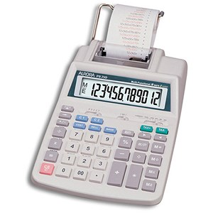 Image of Aurora Calculator Printing Currency and Tax 12 Digit Battery and Mains 147x244x58mm Ref PR710