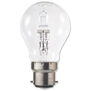 Image of GE Light Bulb Energy Saving GLS Halogen Bayonet Fitting 42W Clear Ref 62575