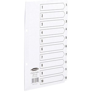 Image of Concord Classic Index Dividers / 1-10 / Mylar Tabs / A5 / White