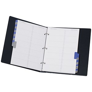 Image of Telephone Index and Address Book Binder with Matching A-Z Index and 20 Sheets / A5 / Black