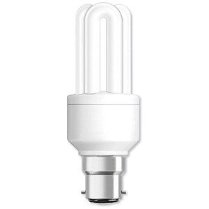 Image of GE Light Bulb Energy Saving Compact Fluorescent Bayonet Fitting 14W Ref 71118