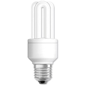 Image of GE Light Bulb Energy Saving Compact Fluorescent Screw Fitting 11W Ref 71117
