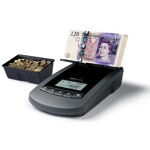 Image of Safescan Money Counter with Printer Port Clear Display Ref 124-0422