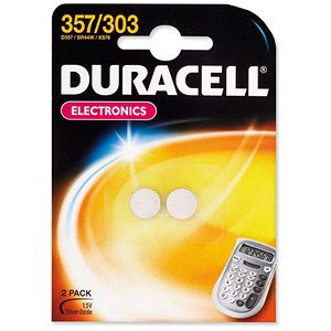 Image of Duracell Battery Silver Oxide for Calculator or Pager / 1.5V / Pack of 2