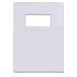 Image of GBC Leatherboard Binding Covers with Window / 250gsm / A4 / White / Pack of 25x2