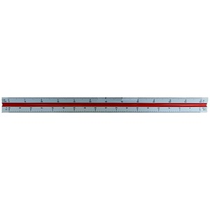 Image of Rotring Triangular Reduction Scale Ruler / 4 Architect from 1-100 to 1-500