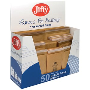 Image of Jiffy Airkraft Bag Selection Box - 50 Gold Bags